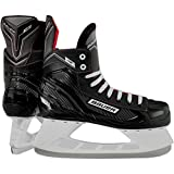 Bauer NS Pattini da Hockey su Ghiaccio, Black/Red, UK 6.5 / EU 40.5 / US 6/7.5