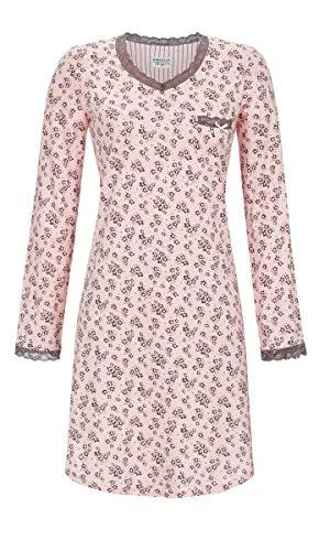 Ringella Lingerie Damen Nachthemd mit Kleiner Spitze Crystal Rose 42 9561023, Crystal Rose, 42