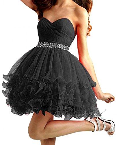 okdress Mini Lunghezza Organza Sparkly breve ritorno abiti 2015strass sexy abiti da laurea Vestidos para festa Black 60 Più