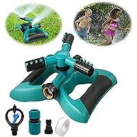 Tolyneil Arroseur de Jardin, pelouse Rotatif à 360° Arroseur Grande Surface réglable Système d'irrigation