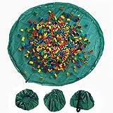 Tappetino per Giochi per Bambini Sacco di Raccolta Tappeti da Gioco Veloce Raccolta di Lego Giocattolo