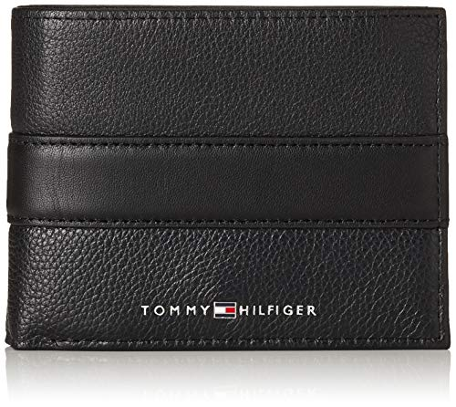 Tommy Hilfiger Herren Th Downtown Cc Flap And Coin Kreditkartenhülle, Schwarz (Black), 3x10x12.8 cm - Schwarze Classic Wallet