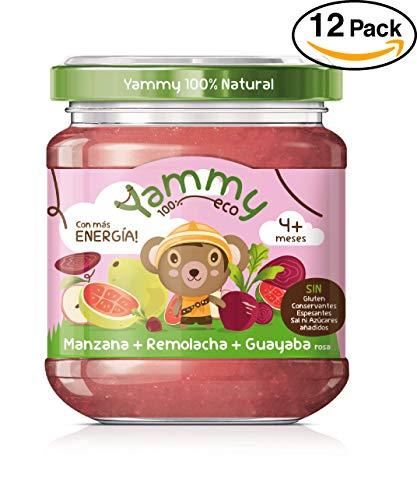 Yammy, Potito Ecológico de Frutas (Manzana, Remolacha, Guayaba Rosa) - 12 de 195 gr. (Total 2340 gr.)