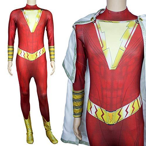 NEW EXOTIC Cosplay Kostüm Shazam DC Enge Weihnachten Halloween Kostüm Für Kinder/Erwachsene Tragen S (Shazam Schwarzen Kostüm)