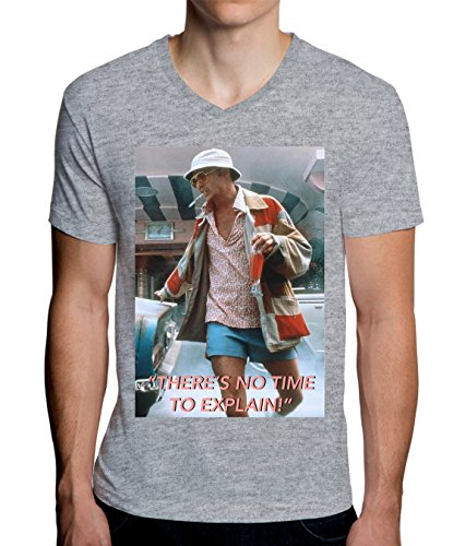 Fear And Loathing In Las Vegas No Time Design Men's V-Neck T-Shirt Large