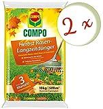 Oleanderhof® Sparset: 2 x COMPO Herbst Rasendünger mit Langzeitwirkung, 10 kg + gratis Oleanderhof Flyer
