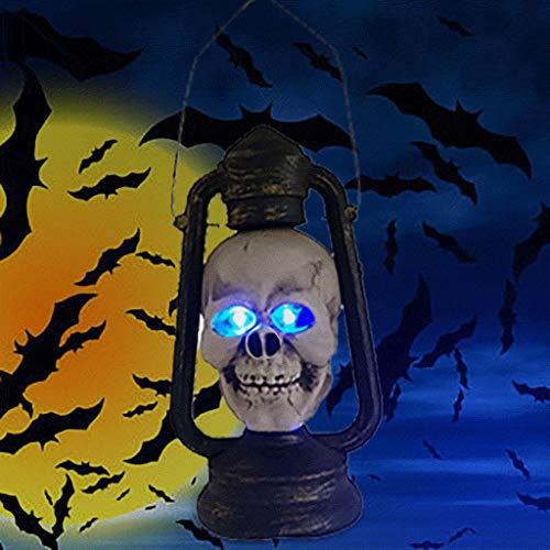 QHJ Halloween Accessoires, Halloween Dekoration Party Prop Horror Spooky Schädel Haunters Tragbare Laterne Halloween Bar Layout Verkleiden Sich Requisiten (Schwarz) (Spooky Vampir Kostüm)