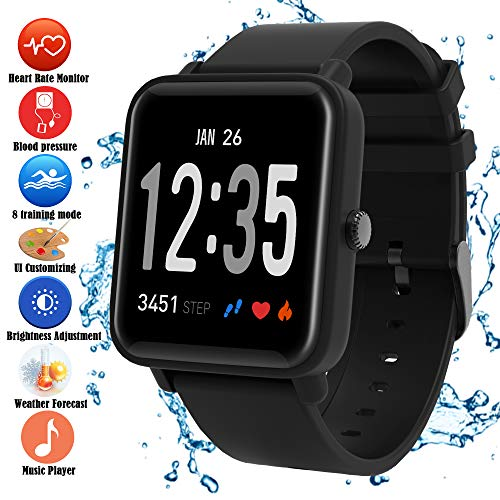 Fitness Trackers Heart Rate Blood Pressure Oxygen Monitor Big Colour Screen Activity...