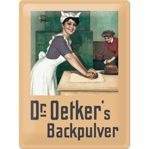 Nostalgic-Art 20374 Dr. Oetker Bckerin, Blechschild, 30 x 40 cm