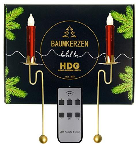 Weihnachtsbaumkerzen LED kabellos | Kabellose Weihnachtskerzen mit Fernbedienung und Baumkerzenhalter | Led Christbaumkerzen kabellos | Christbaumbeleuchtung | Baumschmuck Weihnachten