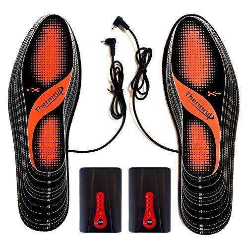 Semelles thermique chauffantes Batterie d'Exploitation (chaud 4 niveaux), Taille: 36-47, lavable