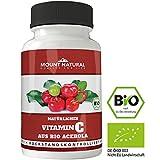 Mount Natural Bio Vitamin C Aus Reinem Acerola Extrakt - 240 Vegane Kapseln Für 4 Monate + Natürliche Bioflavonoide & Laborgeprüft Aus Deutschland