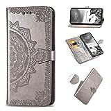 Ronsem Asus Zenfone 2 5.5 ZE551ML / ZE550ML Hülle PU Leder Wallet Schutzhülle mit Kartenschlitz Flip Handyhülle für Asus Zenfone 2 5.5 ZE551ML / ZE550ML - Grau