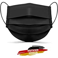 MASSIMO 007 100 Stück Medizinische Masken Schwarz OP Masken Schwarz CE Zertifiziert EN14683 TYP IIR BFE ≥ 98% Schwarze…