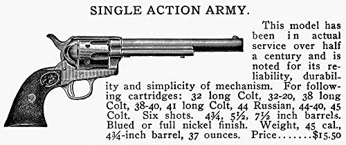 Revolver 19Th Century. /Nsingle Action Army Revolver. Line Engraving Late 19Th Century. Kunstdruck (60,96 x 91,44 cm) (19th Century Revolver)