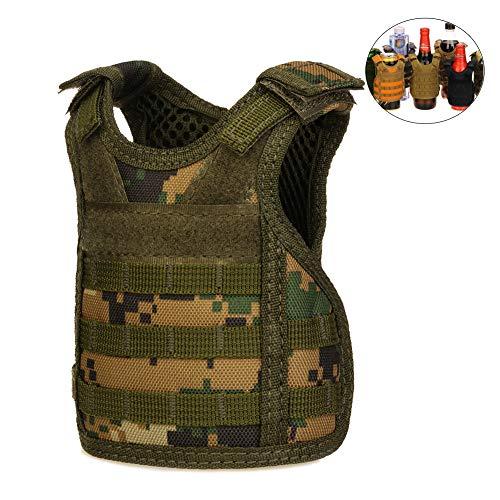 CyberDyer Beer Vests Getränkekühler Tactical Mini Molle Verstellbarer Getränkehalter für 12oz oder 454 oz Dosen oder Flaschen Dschungel-Camouflage