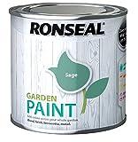 Ronseal RSLGPSA250 GPSA250 Garden Paint Sage 250ml, 250 ml