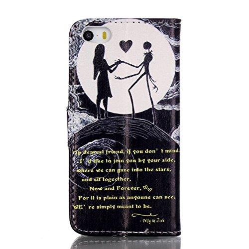 PU Silikon Schutzhülle Handyhülle Painted pc case cover hülle Handy-Fall-Haut Shell Abdeckungen für Smartphone Apple iPhone 5 5S SE +Staubstecker (Y7) 9