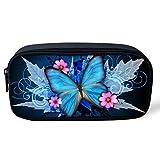 Coloranimal Trousse à crayons motif papillons pour enfants 8.66 inch(L)x1.77 inch(W)x4.33 inch(H) butterfly pattern-2