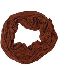 Kobaja - einfarbiger Schal Crinkle Look Tuch aus Baumwolle Stylisch Fashion Unisex Crushed und Crinkled