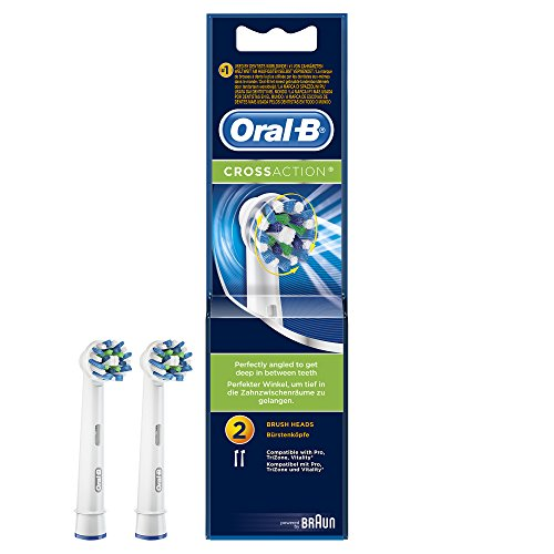 Oral-B CrossAction Electric Toothbrush Replacement Heads - Pack of 2