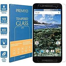 PREMYO cristal templado Nexus 6P. Protector cristal templado Nexus 6P con una dureza de 9H, bordes redondeados a 2,5D. Protector pantalla Nexus 6P