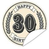 30. Geburtstag Aufkleber | rund | 9,5cm groß