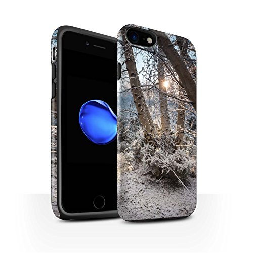 STUFF4 Matte Harten Stoßfest Hülle / Case für Apple iPhone 8 / Gefrorene Bäume Muster / Winter Saison Kollektion Gefrorene Bäume