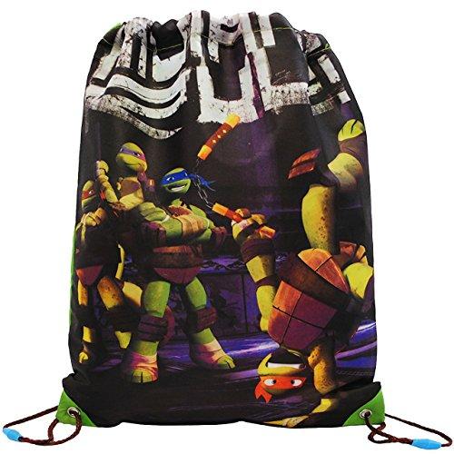 Unbekannt Teenage Mutant Ninja Turtles  - Sportbeutel - Turnbeutel - Schuhbeutel - wasserabweisend abwischbar - für Kinder - Schulbeutel Kindergarten - Jungen / SPOR..