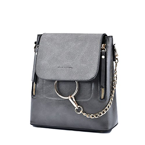 Damen-Tasche Rucksack Freizeit Reisetasche Messenger Bag Mode Grey