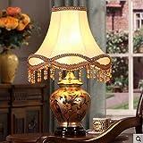 Schreibtischlampen Tischlampe Schlafzimmer Nachttischlampe Keramik Lampe Retro Nostalgie Tischlampe Wohnzimmer Study