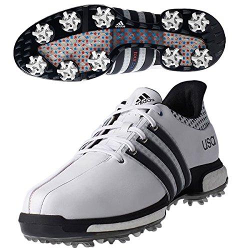 adidas Impuls 360Tour Herren Golf-Schuhe, Weiß, Weiß, 42,5 (Golf Adidas Wrap)