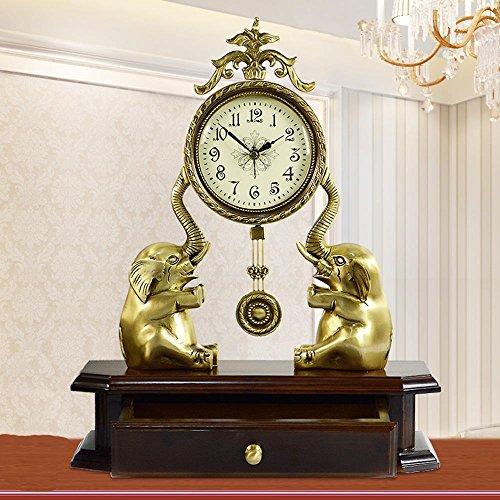 KHSKX Europäischen stillen Wohnzimmer Uhren Büro Schlafzimmer Kingsize reines Kupfer dekorativ moderner Wandbehang Ideen in der Studie von (Ideen Uhrwerk Kostüm Orange)