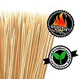 GrillSTIX - Das Original | 100 Stück, 90cm | Grill-Spieße fürs Lagerfeuer | aus 100% Bambus | Holz Spieße, extra-lang, XXL | für Marshmallows, Stockbrot, Würstchen, Grill, Feuerschale