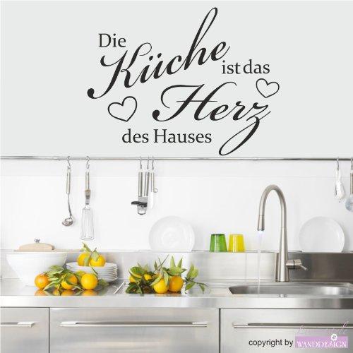 Wandtattoo Wandaufkleber Spruch Die Küche Ist Das Herz Des Hauses Bogen (60  Cm X 47