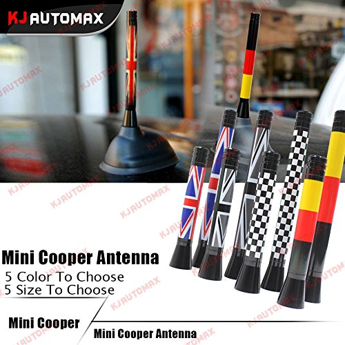 Generic 77cm Checker : For Mini Cooper Accessories Universal Antenna Decoration Car Roof Radio Aerial R55 R56 R57 R59 R60 Clubman Countryman