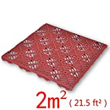Festnight Baldosa para Jardín 24 Piezas - Color de Rojo Oscuro Material de Plástico, 29x29x0,8 cm