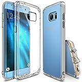 Ringke Fusion - Funda para Galaxy S7 edge, choque absorción tpu, parachoques, conviviente tapón antipolvo, transparente