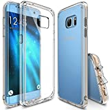 Galaxy S7 Edge Case, Ringke [FUSION] Shock Absorption TPU Bumper Drop Protection Clear Hard Case for Samsung Galaxy S7 Edge 2016 - Clear