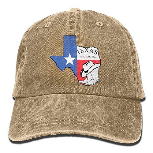Wdskbg Texas Land Texas Forever Unisex Justierbare Baseballmützen Denimhüte Cowboy Sport Outdoor Unisex27