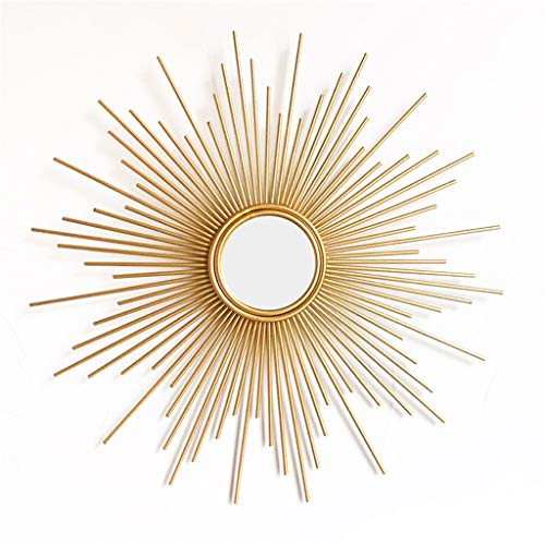 Dekorativer Wandspiegel,Dekorativer hängender SpiegelGold Mirror Sonnenbrille,Schminkspiegel Circle,Bad Hängespiegel für Schlafzimmer/Flur/Kaminverkleidung/Schminktisch,70cm