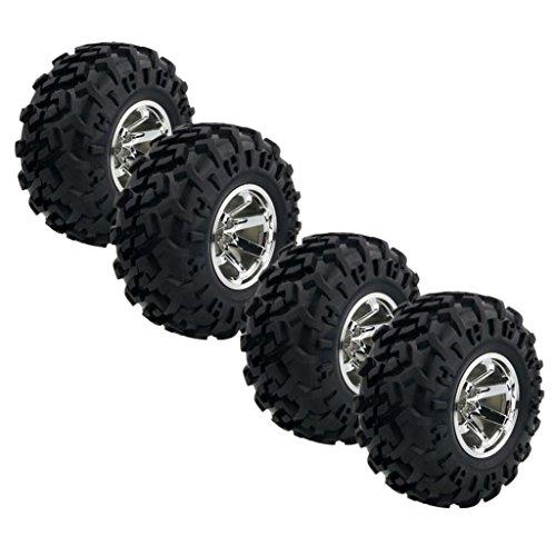 10 Rc-monster-trucks 1 (MagiDeal 4 Stk. Reifen-Set, Gummireifen für 1/10 RC Auto Klettern Monster Truck - Silber #1)
