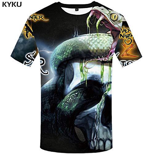 KYKU Schädel T-Shirt Männer Teufel T-Shirt Punk Rock Kleidung 3D T-Shirt Hip Hop T-stück Lässige Coole Mens Kleidung Neue Sommer Top Homme