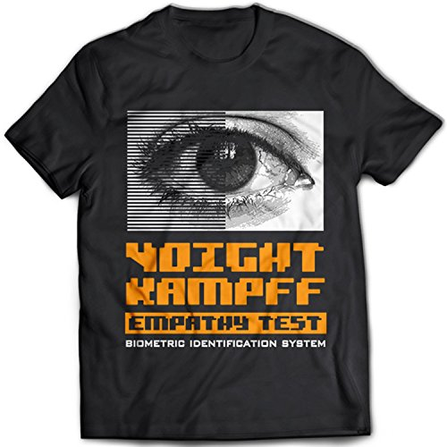 9182 Voight-Kampff Empathy Test Herren T-Shirt Blade Runner Nexus-6 Tyrell Corp Unicorn Origami Replicant(XX-Large,Black) (T-shirt Blade-herren)