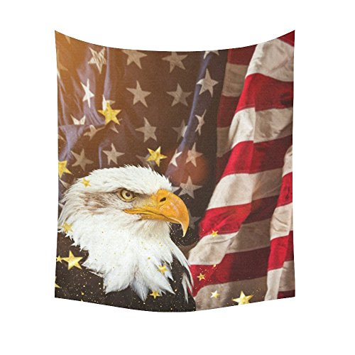 Free-shipping Bird Bald Eagle Home Decor Tapestries Wall Art,American Flag Tapestry Wall Hanging Art Sets (Eagle Flag Silver)