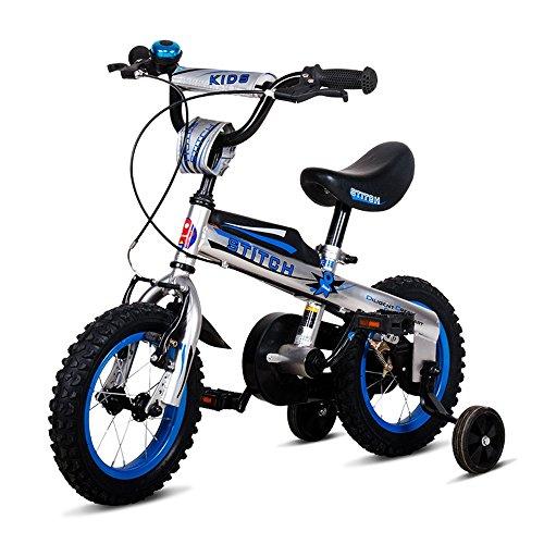 Bicyclehx Baby Buttons Freestyle BMX Kinderfahrräder mit Trainingsrädern Montiert Carbonstahl Sicherheit Kinderfahrrad in der Größe 12,14,16 Zoll (Größe : 12 inch)