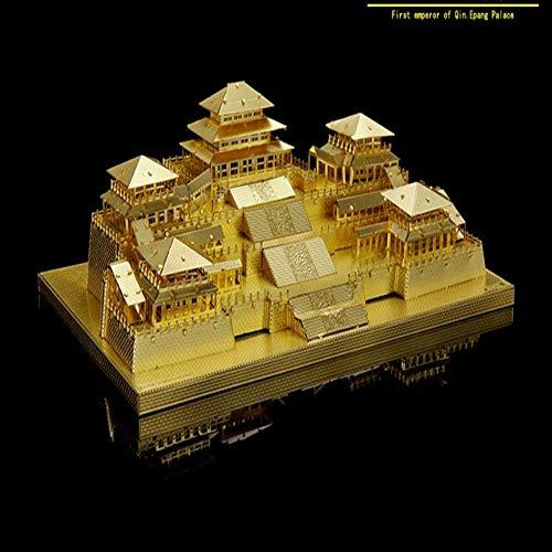 MQKZ Jigsaw Assembling Metal Model Kit / China - XI EIN Qin Huangling / DIY kreatives Laserschneiden Spielzeug / Silber + Werkzeug A + B / one Size