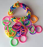 Brand New Style Pearl Bead Loom Bands (300 bands + 12 S-clips)
