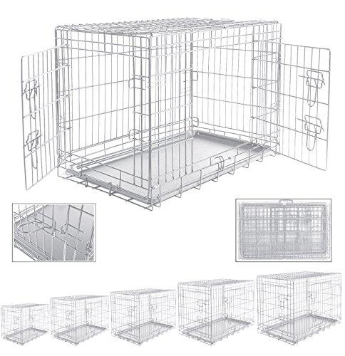 WOLTU® HT2080sb4-a XL 107*71*76 Hundekäfig Transportkäfig faltbar Käfig Hundebox Auto Gitterbox Hundetransportbox