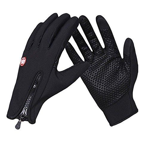 DegGod Unisex Winter Outdoor Sport Winddicht Wasserdicht Touchscreen Handschuhe für Smartphone und Radfahren Skifahren Wandern Klettern Camping Warme Handschuhe Voller Finger Für herren damen Einstellbare Größe (M)